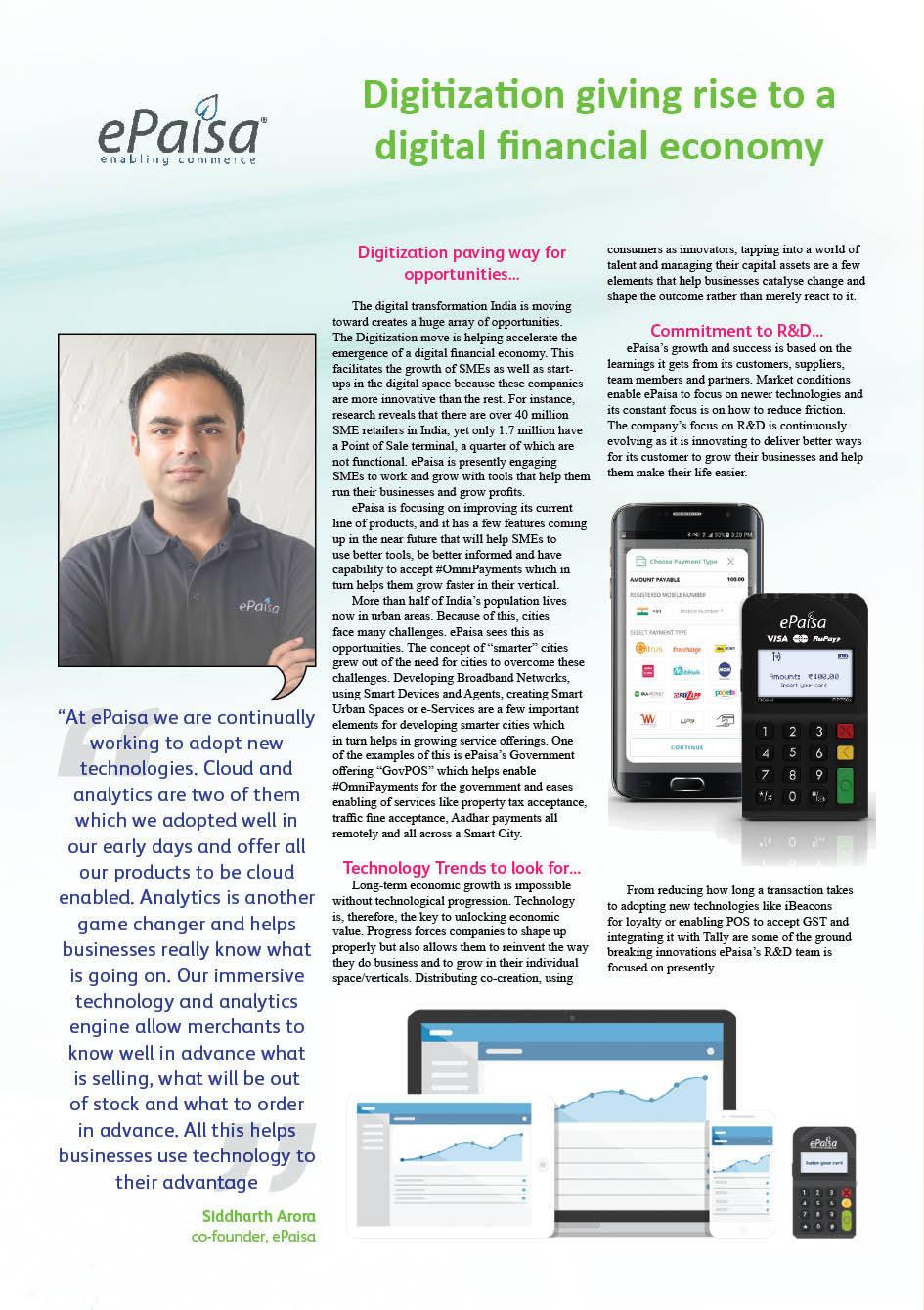 ePaisa: Digitization giving rise to a digital financial economy