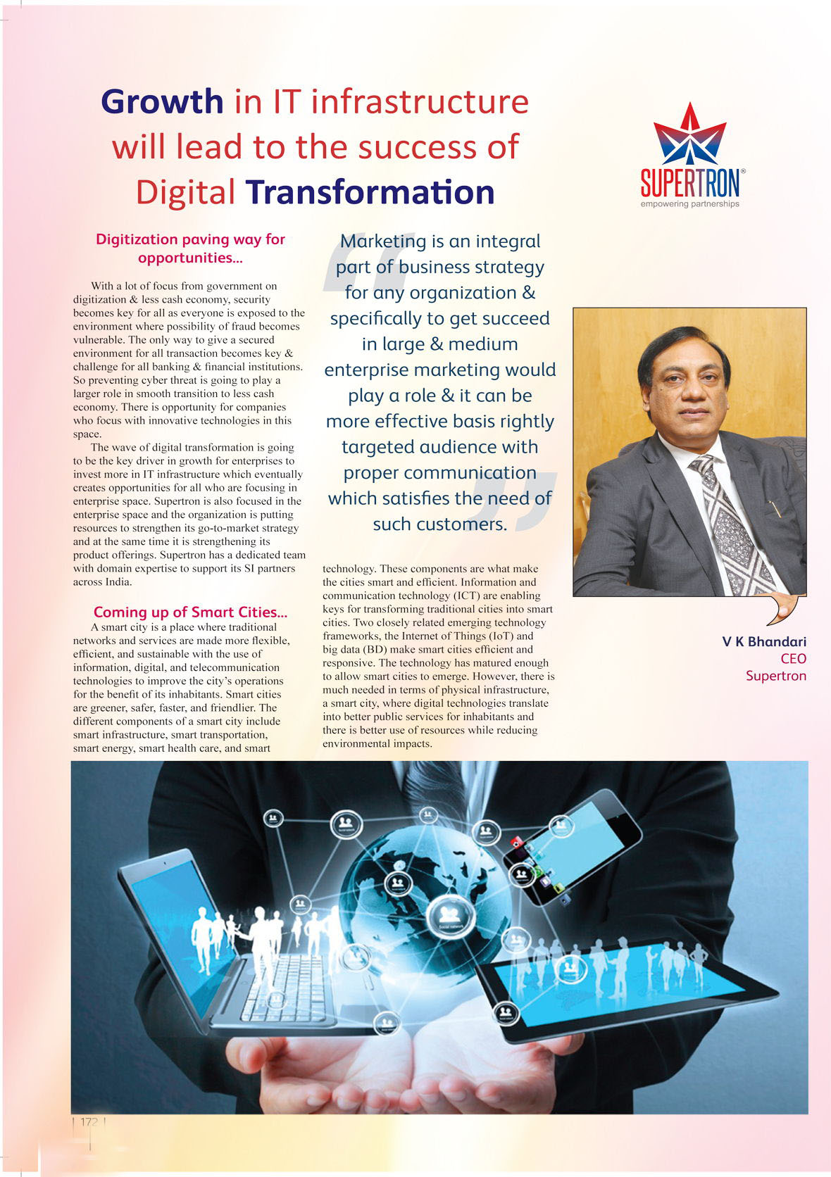 Supertron  : Growth in IT infrastructure will lead to the success of Digital Transformation