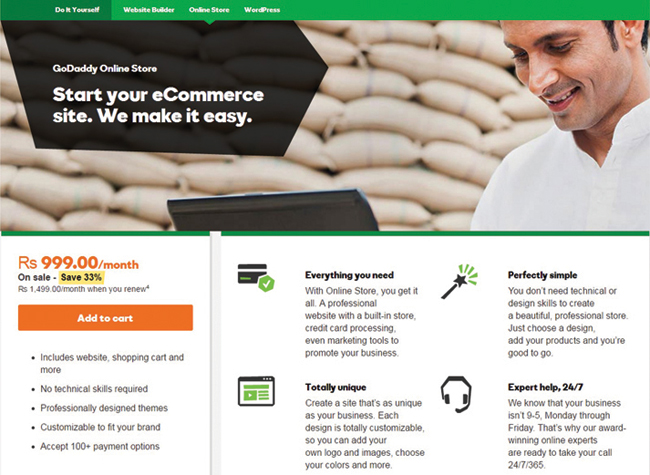 GoDaddy-Online-Store
