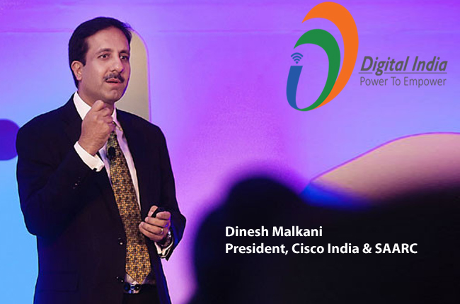 digital india- Dinesh Malkani President, Cisco India & SAARC