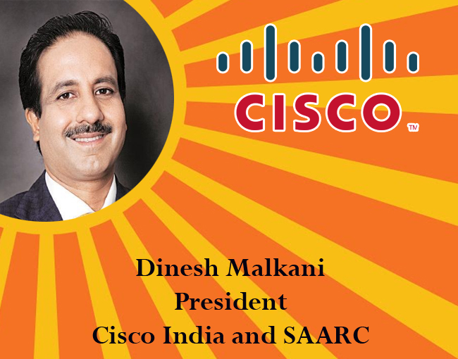icon of india - Dinesh Malkani, President, Cisco India and SAARC