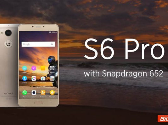 Gionee Launches S6 Pro Smartphone with 4GB RAM