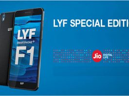 LYF F1 smartphone+ to take full advantage to Jio network