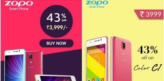 Zopo C1 ZP331 is now available on Shopclues